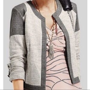 CABI shrunken gray Moro jacket blazer #211 sz M